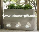 Fo9018長方形の空のステンレス鋼の庭の植木鉢