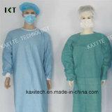공급자 Kxt-Sg24를 옷을 입히는 처분할 수 있는 비 길쌈된 외과의사 격리 의학 가운