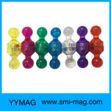 Pinos magnéticos plásticos do impulso da alta qualidade colorida para a placa