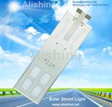 Indicatore luminoso di via solare Integrated del mono comitato 60W LED della batteria dello Litio-Ione