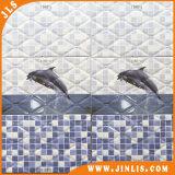 Azulejo de cerámica vitrificado rústico impermeable popular de la pared del material de construcción