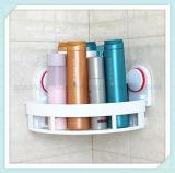 Полка ванной комнаты угловойая с корзиной стены хранения чашки устроителя шкафа ливня всасывания