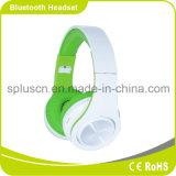 Couleur bleue folâtrant l'écouteur de Bluetooth avec la carte SD et le microphone