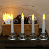 Battery Candle를 가진 불꽃 없는 Wax Tealight Holder Candlesticks