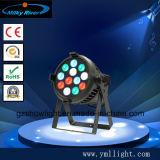 Iluminação do estágio do diodo emissor de luz, estúdio do diodo emissor de luz que ilumina a PARIDADE 40PCS X3w do diodo emissor de luz de 7 cores