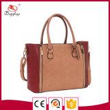広州OEMの工場赤く安いPUのブランクハンドバッグの女性