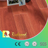 Plancher en bois en bois du vinyle 12.3mm E0 HDF AC4 de stratifié à haute brillance commercial de parquet