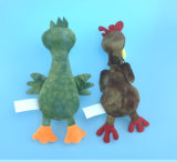 안쪽으로 Squeaker를 가진 연약한 견면 벨벳 닭과 오리 애완 동물 장난감