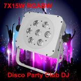 DMX512 Rgbaw 15W sem fio Uplight PAR Iluminação LED