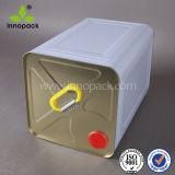 18L 20L kann quadratische chemische Metallblechdose mit Plastikgriff/Metall mit Metallöffnungs-Deckel für chemischen Öl-Gebrauch