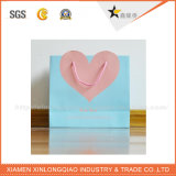 Alto corazón de la calidad del diseño de tela de papel bolsos de compras