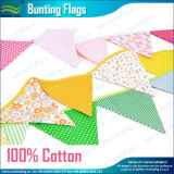 Rotes Riangle Banner Cotton Bunting Flags auf String (M-NF11F19023)