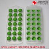 Cassetto animale del cubo di ghiaccio di figura del silicone su ordinazione di colore verde