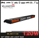 Barres tous terrains ambres blanches simples de l'éclairage LED 4X4 de l'éclairage LED 10-80V 120W de la rangée IP68 pour le camion Wl-8017-120 (LED-LIGHT-BAR)
