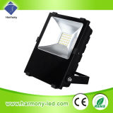Luz de inundação de controle remoto impermeável do diodo emissor de luz de IP65 Bridgelux 50W RGB
