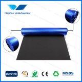 Espuma negra de EVA con arpillera azul del papel de aluminio