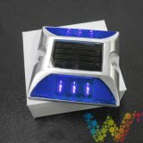 Blue Solar Road Stud Safety Clignotant Light