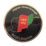 Gold überzogene afghanische Andenken-Münze
