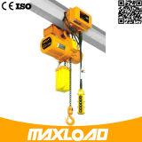 De Certificatie van Ce van ISO Hijstoestel van de Keten van 0.5 Ton van de Garantie van 1 Jaar het Lichtgewicht Elektrische