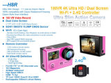 2 ScreensおよびVideo HD 1080P 60 Frames Video 360 Degree 30m Waterproofの4k Action Sports Camera H8r