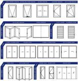 Раздвижная дверь алюминия обеспеченностью высокого качества