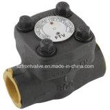 Aço forjado rosqueado ou tipo válvulas do interruptor Y de verificação