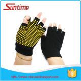 Gants antidérapage de Pilates de yoga de gants antidérapants superbes d'hommes de femmes, gants Fingerless de poignée d'exercice de Pilates de yoga, non gants de glissade