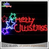 El marco al aire libre del árbol de navidad del LED que hace publicidad del LED pone letras a la luz