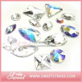 Großhandelskleid-Zubehör-fantastischer Glassteinkristall nähen auf Rhinestone