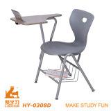 執筆タブレットが付いている現代大学生の椅子