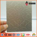 El panel de aluminio compuesto metálico del oro de la onda de la cinta de 2016 series del tacto