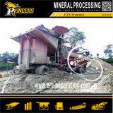 Strumentazione mobile di estrazione dell'oro del macchinario di separazione di estrazione mineraria di giacimento detritico di 200 Tph