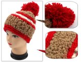 Chuncky stricken Hut gestrickten Wolle-HutPompomstrickenden Beanie mit der Hand