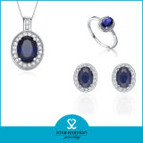 Discount (J-0166)를 위한 우아한 Gemstone 925 Sterling Silver Jewelry Set