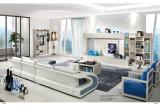 Sofà europeo dell'insieme di salone del cuoio di stile in azione (GLS-027)