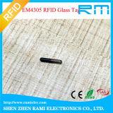 Tag da câmara de ar de vidro do identificador de 1.4X8mm RFID/microchip RFID de Hitag S256 para tartarugas