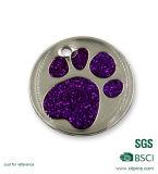 Étiquettes Shaped d'animal familier en métal de griffe faite sur commande de chat