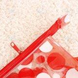 Saco bonito dos artigos de papelaria do Zipper do slider do PVC da cópia feita sob encomenda