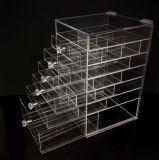 جديدة مضادّة خدش فسحة أكريليكيّ مستحضر تجميل مجوهرات بنية منظّم صندوق