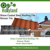 Azulejo de material para techos revestido de piedra del metal (tipo romano)