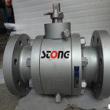 Válvula de esfera de aço da montagem de eixo da forja do API de A105 600lb