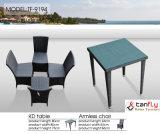 4 Sitzzeitgenössisches Rattan-im Freiengarten-Möbel, die Set speisen