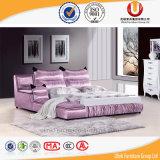 유럽 최신 판매 새로운 디자인 침실 가죽 침대 (UL-FT811B)