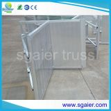 AluminiumCrowd Folding Barriers für Event Protect Barrier mit Cable Cross