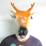 Máscara de Halloween, máscara dos cervos, máscara animal, máscara principal cheia, máscara adulta