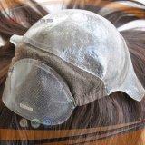 Volle überzogene dunkler Brown-Farben-Frauen-Polyperücke