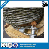 Corde galvanisée plongée chaude de fil d'acier