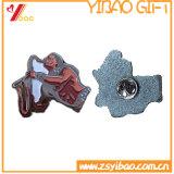 エナメルカラー(YB-LP-34)のカスタムロゴの折りえりPinのバッジ