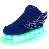 Wings Magic Tape Alta-Top LED USB de carga de hasta Flashing Zapatillas