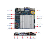Placa madre nana industrial embutida Fanless del rastro J1900 Fanless de la bahía con COM/USB3.0